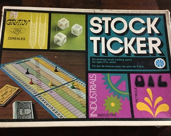 Vintage Stock Ticker Game Very Rare