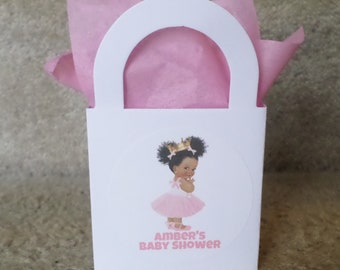 African american ballerina 12 personalized african american ballerina princess mini treat bags for mini negle Choice Image