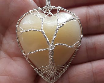 Sterling Silver Wire Wrapped Tree Of Life Breastmilk Pendant