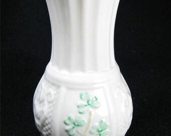 Vintage BELLEEK NADINE VASE made in Ireland 1989