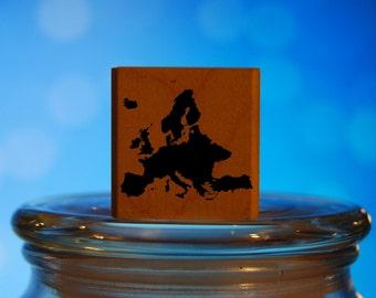 Europe Rubber Stamp Mounted Wood Block Art Stamp