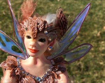 RESERVED for Natalie OOAK Fairy Art Doll Hand Sculpted Faerie Polymer Art Doll Fairy Sculpture Miniature Faery Figurine Fantasy Doll