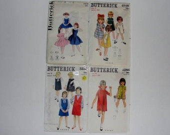 Vintage Butterick Patterns for Girl Size 6 Dress Patterns Girls Clothing Sewing Ideas
