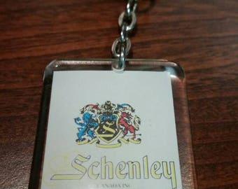 Schenley plastic tag keychain