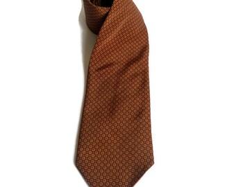 Vintage Italian Silk tie by Antica Cravatteria Neck tie Brown Beige Cravat Tie  Men's accessories Silk neck tie Gift for him