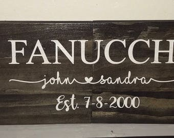 Custom wood stained home decor painted sign