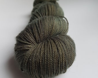 Skein of Superwash Merino - Nylon - Stellina / Fingering - hand dyed Sock / color of transience Forest