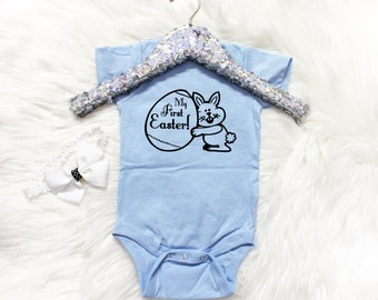 My First Easter Baby One-piece, baby Girl First Easter, Baby Boy first easter, Happy First Easter