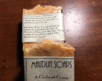 A Clockwork Orange - Orange Essential Oil and Grapefruit Essential Oil Liquid Hot Process Soap