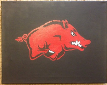 Arkansas Razorback Painting