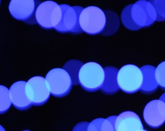 Stock Photo | Bokeh Blue | Christmas Lights | Digital Background | Overlay | Instant Download