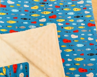 Swimming with the Fishes Summer Lightweight Baby Blanket
