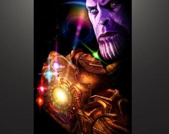 "Avengers: Infinity War Inspired ""Thanos"" Art Print by Herofied"