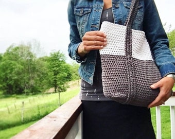 Crochet Pattern, The Ryann Beach Tote, Crochet Bag Pattern, Crochet, Crochet Pattern, Crochet Tote Pattern, Crochet  Summer Bag