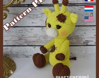 Crochet Pattern, pattern, tutorial, Amigurumi giraffe Soso
