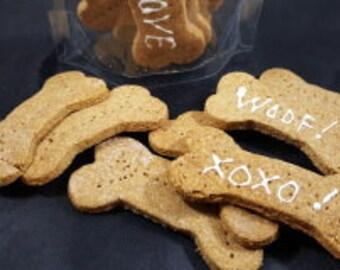 Big Bits Peanut Butter Dog Treats with Quail Eggs