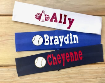 Personalized Sports Headband with Name | 2 inch Headband