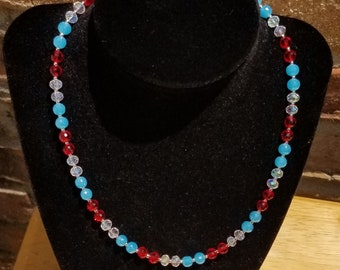 Red, White, & Blue Necklace
