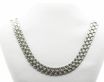 An Easy To Wear Silver Collarette/Necklace   SKU1001