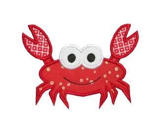 Sea Crab Applique Machine Embroidery Digital Design Ocean Beach