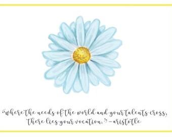 Blue Nurse Appreciation Daisy Card