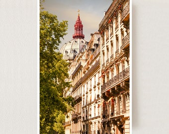 Architectural print Paris wall art photography Large vertical art, Paris cityscape Large wall art Living room decor City print 24x36 poster