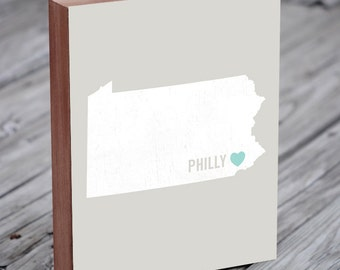Philadelphia Gift -  Philadelphia Map Poster - Philadelphia Sign - Philadelphia Wedding Sign - Philadelphia Wedding Gift - Philly Wedding