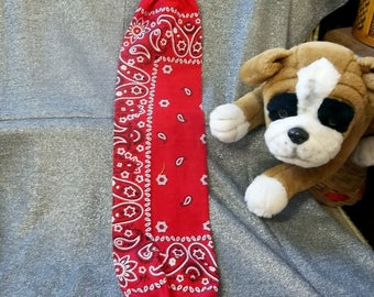 Plastic Bag Holder Sock, Classic Red Paisley Print