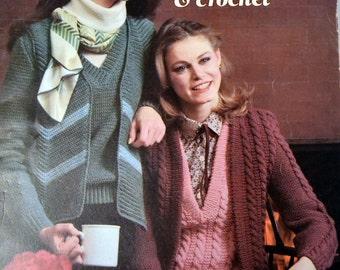 Sweater Sets Knitting and Crochet Patterns Leisure Arts 164