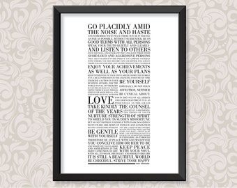 Desiderata (print in 5 colourways and 2 sizes: A4 and A3)