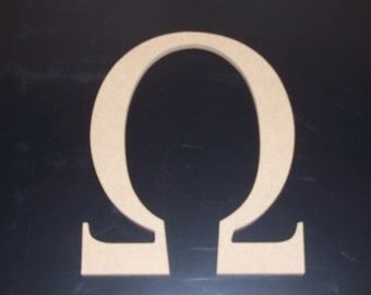 "2 12"" Unfinished Wooden Greek Letters, 12.00 ea. Alpha, Omega, Beta, Mu, Tau, Delta FREE SHIPPING 12GK50X2  121"