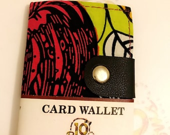 Bespoke African Print Card Wallet with multiple compartments. Perfect for Bank cards, ID cards, travel cards etc
