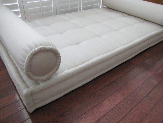 Sunbrella Custom Cushion French Mattress Cushion Tufted