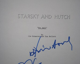 Starsky and Hutch Signed TV Script Screenplay Autograph David Soul Paul Michael Glaser signature class tv drama