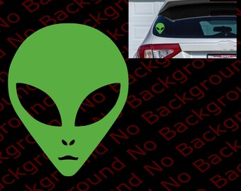 ALIEN UFO I BELIEVE Space Die Cut No Background Vinyl Decal Sticker for  Car Window Fender Bumper FY007