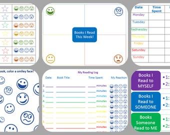 8 Reading Logs for Kids Printable/ Instant Download / Reading Chart / Reading Logs / Struggling Readers / Log Templates / Printable Log