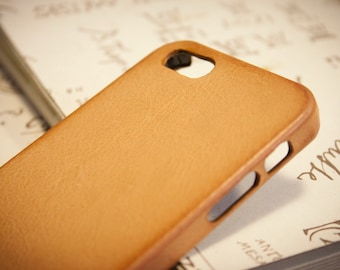 iPhone Leather Case made by Aged Washed leather for iPhone SE 5s 5c 4s to use as protection CHOOSE BODY colour