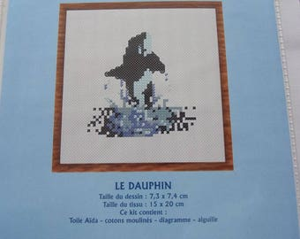 KIT complete stitch cross stitch counted - a painting Dolphin art 604
