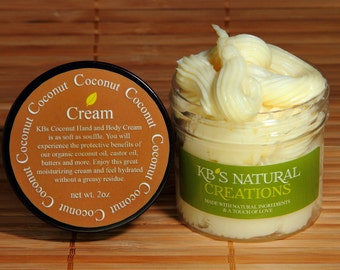 Coconut Hand & Body Cream - Rich, Moisturizing and Creamy. Aroma is Intoxicating