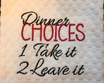 Dinner Choices Take It or Leave It DOWNLOAD DIGITAL Design 4x4