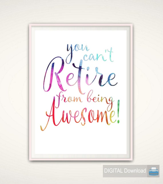 Nurse Retirement Gift Retirement Quotes PRINTABLE