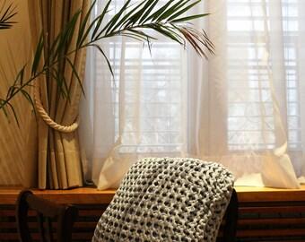 BABY BLUE small cushion, chunky knit cushion, knit pillow, decorative pillow, chunky knitted pillow, eco fashion, sustainable fashion
