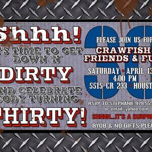 Custom Dirty Thirty Birthday Invitation