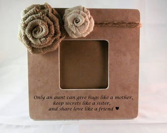 Picture frame Wedding gift for aunt frames, thank you wedding gifts for aunts from niece nephew