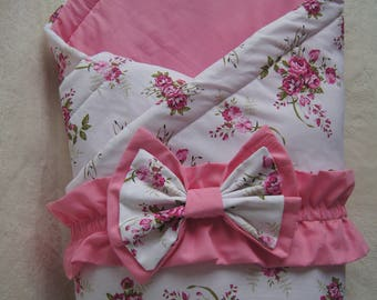 Baby swaddle blanket with a bow tie