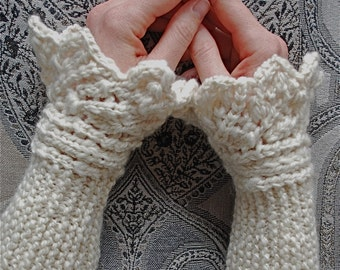 "Knitting pattern PDF wrist warmers ""Cassy's Cuffs"""