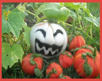 Printed Note Card - Jolly Pumpkins -image from treasures  Waldorf inspired greeting card