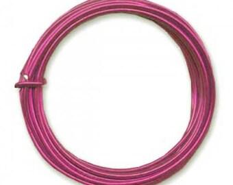 3 m of thread color Fuchsia diameter 4 mm cheap metal aluminum