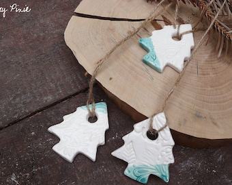 Christmas decorations in the shape of Christmas trees, set of 3 pieces