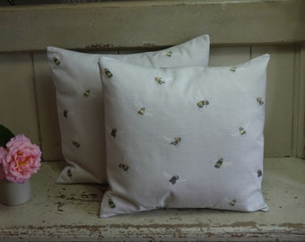 Luxury Handmade Cushion - Bee Pillow - Feather Filled Cushion - Bumble Bee Pillow - Bee Cushion - Living Room Cushions - Cushions - pillows